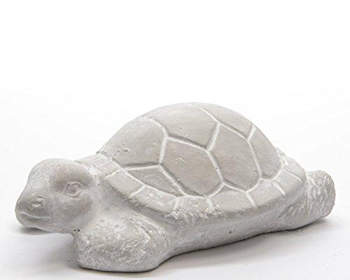 Beton schildpad deco dier tuindecoratie decoratief figuur vintage dierenfiguur L. ca. 16 cm stukprijs