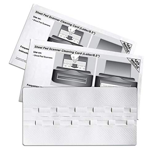 Sheet Fed Scanner Cleaning Card Featuring Waffletechnology (15 Sheets) (15)