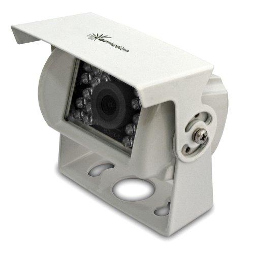Carmedien Rückfahrkamera für Wohnmobile und Transporter 120° IR LED Kabel weiß Edelstahl