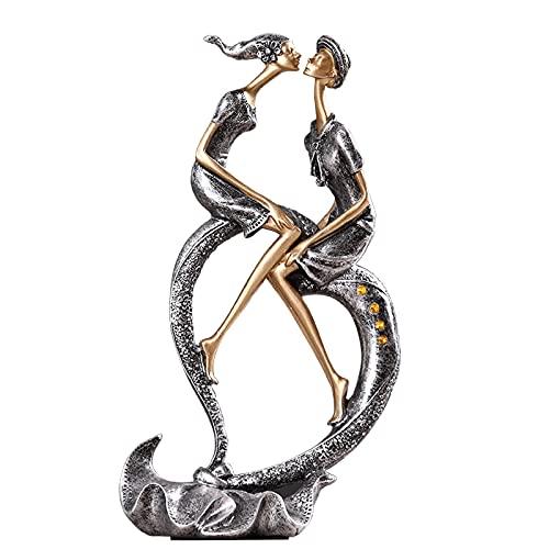 jinyi2016SHOP Decoración de Escritorio Estatuas románticas de Parejas, Amor en Forma de corazón Esculturas de Amantes Decoración del hogar, testimonio de Amor, día de San Valentín Boda anive