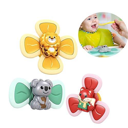 SVHK 3 stücke Saugnapf Baby Spielzeug, Babybad Spielzeug, Saugspielzeug BAU Set, BAU Kit Saugnapf Spinning Top Spielzeug, für Kinder Mädchen Jungen Stress Relief Antiangst Geschenke