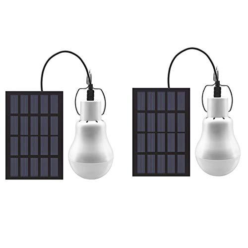 GreeSuit - Bombilla LED con energía solar, portátil, USB, para oficina, cocina,...
