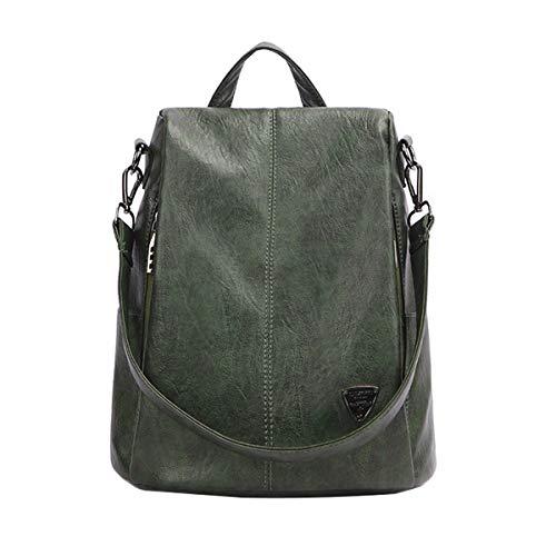 Tisdaini® Damen Rucksackhandtaschen modische diebstahlsicher Reise Freizeit Schulrucksack Grün