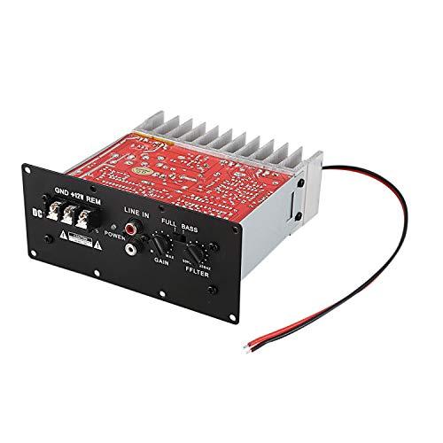 Gaetooely S100 12V 150W Tablero de Amplificador de Coche Subwoofer Bajo Coche Audio Tablero de Amplificador de Coche de Alta Potencia para 6 8 10 Pulgadas Subwoofer de Coche