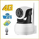 Magic Eye Cámara 4G 3G Tarjeta Sim Cámara IP 1080P 720P HD Inicio WiFi Inalámbrico Cámara Vigilancia Interior P2P gsm LTE App Camhi (Versión 1080P WiFi)
