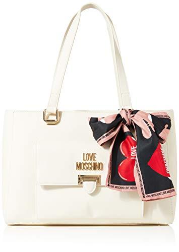 Love Moschino Jc4242pp0a, Borsa Tote Donna, Avorio (Ivory), 14x25x35 cm (W x H x L)