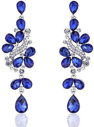 10 Pares de Pendientes de Racimo de Cristal de Boho Pendientes Largos Largos Lámpara de Araña Bohemia Zirconia Cúbica Pendiente Colgante de Diamantes de Imitación Eh641