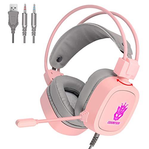 #N/A S100 Gaming Headset 7,1 Kanal 3,5mm/USB Verdrahtete Kopfhörer RGB Licht 50mm Stick Spiel Kopfhörer...