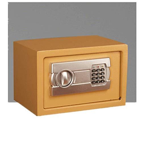 Inicio Equipo Gabinete Cajas de seguridad Caja de dinero Caja de seguridad para el hogar Mini cofre electrónico Seguridad Caja fuerte digital Caja fuerte de acero (Color: Púrpura Tamaño: 31x20x20cm
