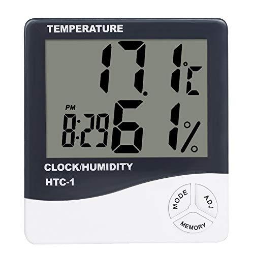 LQKYWNA Termómetro Digital LCD De Habitación Interior Higrómetro Mini Medidor De Humedad De Temperatura Preciso Estación Meteorológica Reloj Despertador