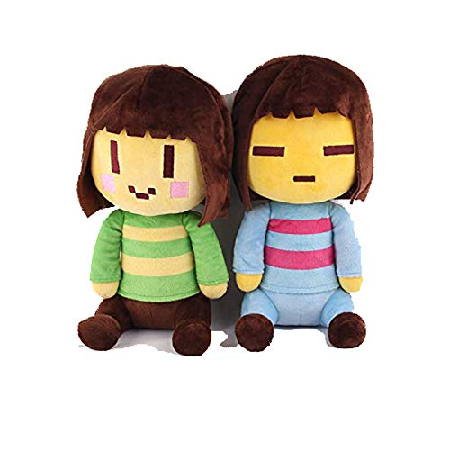 Mcgrady1xm Undertale Character Frisk and Chara Plush Stuffed Toy Doll 20CM-30CM Undertale Hugger Cushion Cosplay Doll for Kids Children (Color 5)
