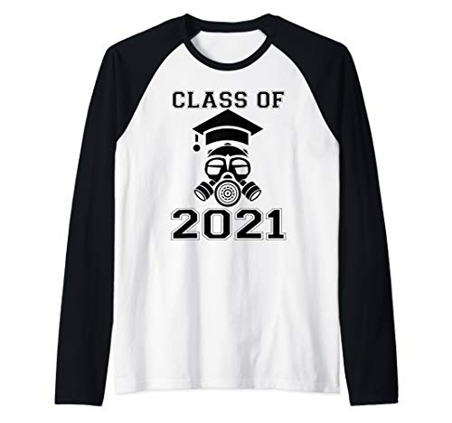 Senior 2021 Face Mask Quarantined Class of 2021 Raglan Baseball Tee