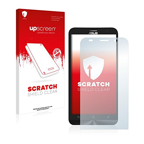 upscreen Schutzfolie kompatibel mit Asus ZenFone 2 ZE551ML – Kristallklar, Kratzschutz, Anti-Fingerprint