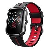 Smartwatch Herren Damen GPS Fitness Armband Sportuhr Bluetooth 1.3'' Voll Touchscreen 5ATM Wasserdicht Fitness Tracker mit Pulsuhr Schrittzähler Musiksteuerung Stoppuhr DIY Hintergrund Anruf SNS