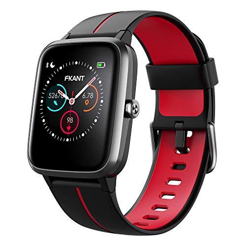 Smartwatch Herren Damen GPS Fitness Armband Sportuhr Bluetooth 1.3\'\' Voll Touchscreen 5ATM Wasserdicht Fitness Tracker mit Pulsuhr Schrittzähler Musiksteuerung Stoppuhr DIY Hintergrund Anruf SNS