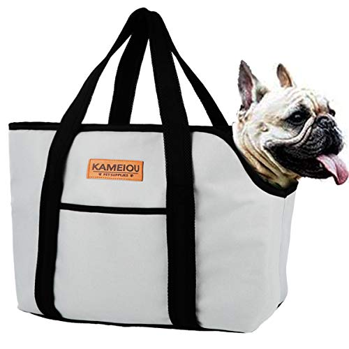 Pet Dog Purse Tote Carrier Bag for Medium Dogs Travel Soft-Sided Purse Carriers with Pocket Safety...