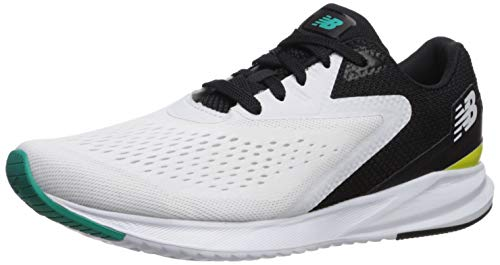 New Balance Men's Viz Pro Run V1 FuelCell Sneaker, White/Black, 9.5 D US