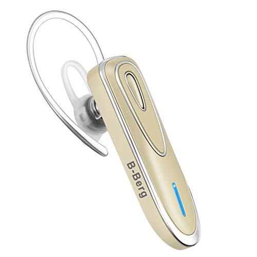 Bluetooth Wireless kabellos leicht wasserdicht Headset 5.0 In-Ear Ohrhörer Kopfhörer mit Rauschunterdrückung Mikrofon und Stereo-Sound Freisprecheinrichtung für EIN Ohr für Handy/Smartphone (Gold)