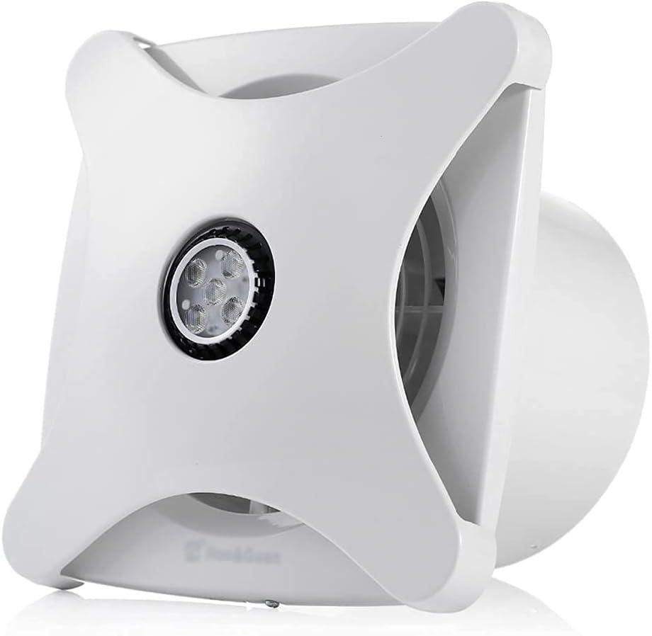Ventilador de Escape silencioso de 6 Pulgadas para baño, Cocina, ventilación, Ventana, Techo, Montaje en Pared, Extractor de Aire, Ventilador de conducto en línea