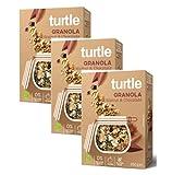 Turtle Cereales Granola orgánica sin gluten con nueces, quinua inflada y chocolate - 3 x 350 gramos