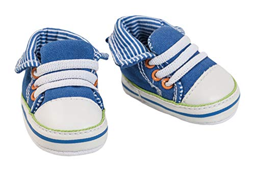 Heless 4471 - Sneaker für Puppen, blau, Größe 30 - 34 cm