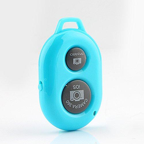 PUSOKEI Obturador de cámara remota Selfie con tecnología inalámbrica Bluetooth, CREA Fotos increíbles, Funciona con la mayoría de los teléfonos Inteligentes y tabletas (iOS y Android) -30 pies
