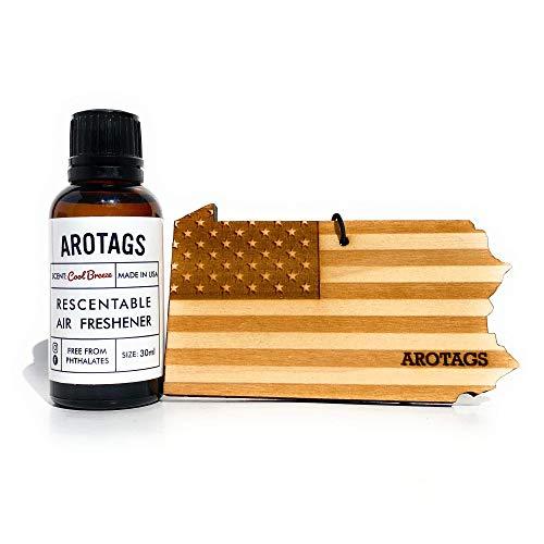 Arotags Pennsylvania Patriot Rescentable Car Air Freshener (Vanilla Lavender) - Made in U.S.A.
