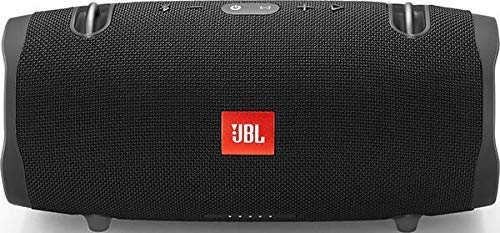 JBL Xtreme 2 - Altavoz BT portátil resistente al agua (IPX7) con manos libres y radiador de bajos JBL, JBL Connect+, batería 15h, negro
