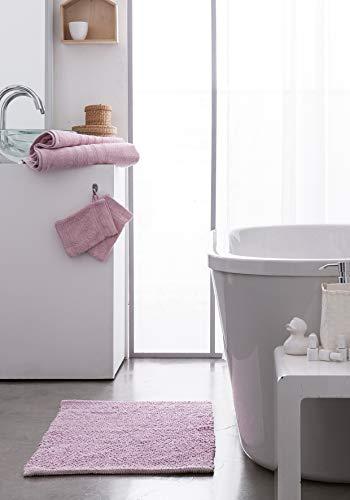 Today 257622 Premium Lot de 2 Gants de Toilette Coton Rose poudré 16 x 21 cm, 100% 600 g/m2