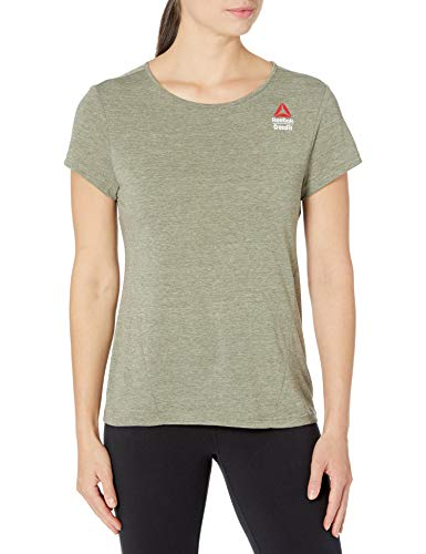Reebok Crossfit Games Activechill Cotton T-Shirt, Poplar Green, 2XS