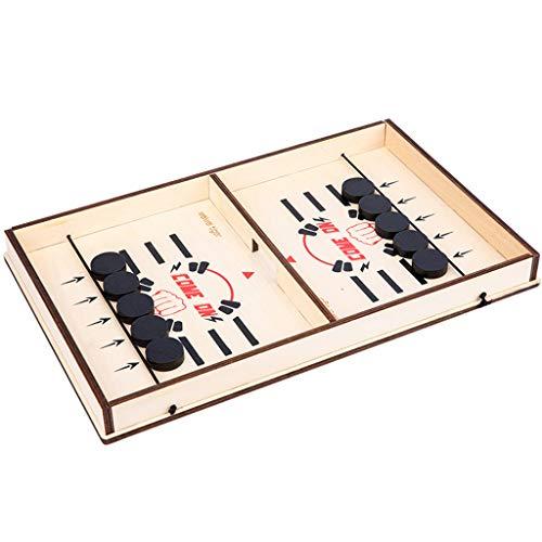 GROOMY Schach Spielen Fast Sling Puck Spiel, Slingshot Games Toy, Tischhockey Party Spiel -1