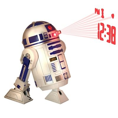 MIK funshopping Star Wars Wecker R2-D2 mit Sound & Zeit-Projektion