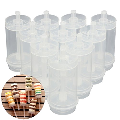 Emousport 50x Cakes Dessert Push Up Pop Containers Shooter Pop for Party Use