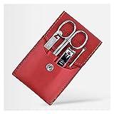 Kit de Cortaúñas Clippers de uñas herramientas de cuidado de uñas conjunto de manicura 4 en 1 kit de pedicura de acero inoxidable kit profesional de aseo con estuche de viaje portátil Juego de Manicur
