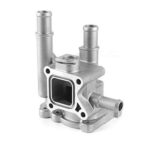 CCHAO Refrigerante Termostato Alcapa Aleación de Aluminio Alquiler de Autos Termostato Cubierta de alojamiento Piezas de Repuesto Ajuste para Opel/Vauxhall 96984103