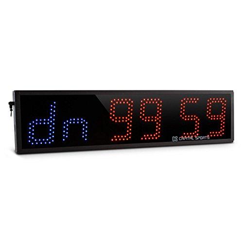 Capital Sports Timeter - Sporttimer, Tabata, Stoppuhr, 5 vorprogrammierte Modi, Digital-Anzeige mit Fernbedienung, Möglichkeit zur Wandmontage, 6 große LED-Ziffern, Signalton, schwarz