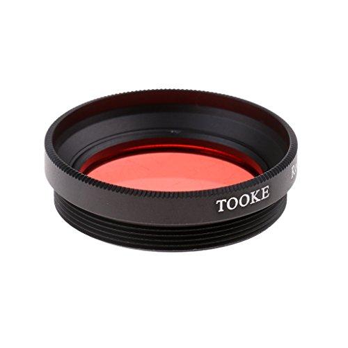 perfeclan Soporte Universal De Rosca De Filtro Rojo De 32 Mm para Fundas Impermeables para iPhone Y