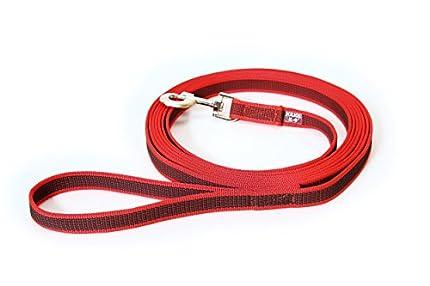 Julius-K9 216GM-R-S3 Color & Gray Correa de Perro del Estupendo-Apretón con Asa, 20 mm x 3 m, Rojo y Gris