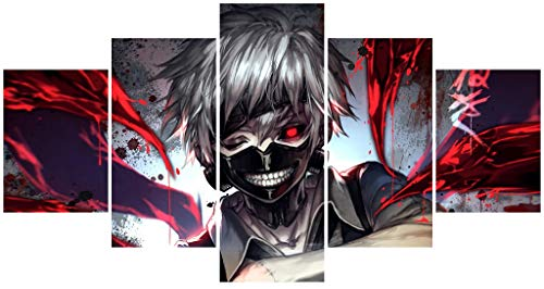 Hunbeauty art Tokyo Ghoul Poster Unframed Canvas Prints Anime Posters for College Dorm