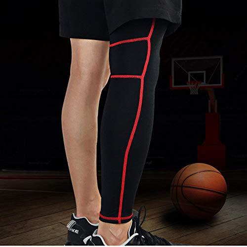 GFHDGTH 1 stuk outdoor sport beensteunhuls, basketbal verlengen ademende kuitbenen mouwen protector sport veiligheidsuitrusting