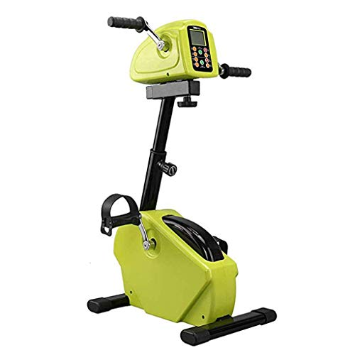 Electric Bike Pedal Exerciser,Foldable Rehab Gym Equipment,Physical Therapy Promotes Blood Circulation Arm & Knee Exerciser for Handicap