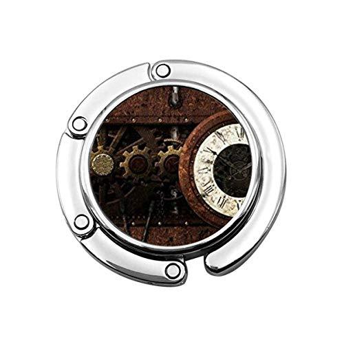 Netter Faltbarer Geldbeutel-Aufhänger für Tisch, Geldbeutel-Haken lustiges erstaunliches Zahnrad-Getriebe Steampunk-Weinlese-Mechanismus