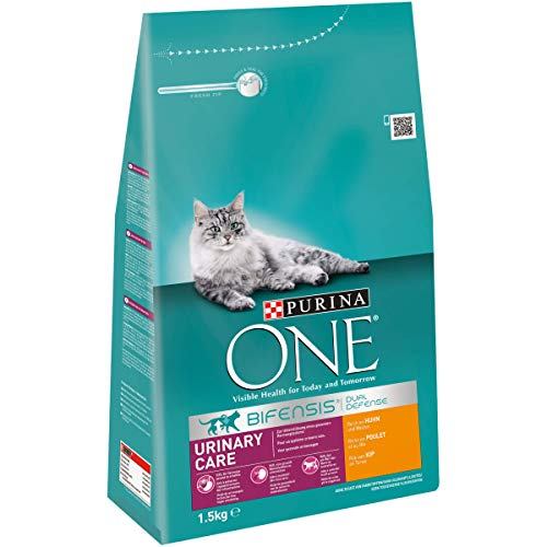 PURINA ONE BIFENSIS URINARY CARE Katzenfutter trocken, reich an Huhn, 6er Pack (6 x 1,5kg)