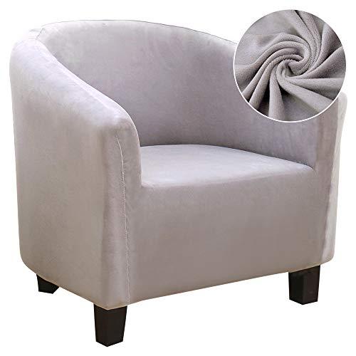 JuneJour Sesselschoner Sesselüberwurf Sesselhusse Sesselbezug Samt Elastisch Stretch Husse für Cafe Stuhl Sessel