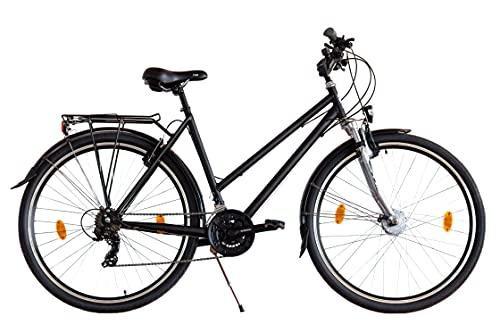 XB3 28 Zoll Fahrrad 21 Gang Federgabel Zoom StVZO Shimano Nabendynamo LED Licht Standlicht schwarz