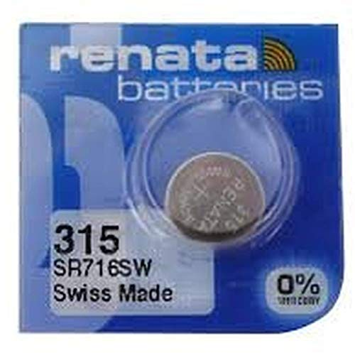 3x Renata Mercury gratis Armbanduhr Batterie 315(SR616SW)
