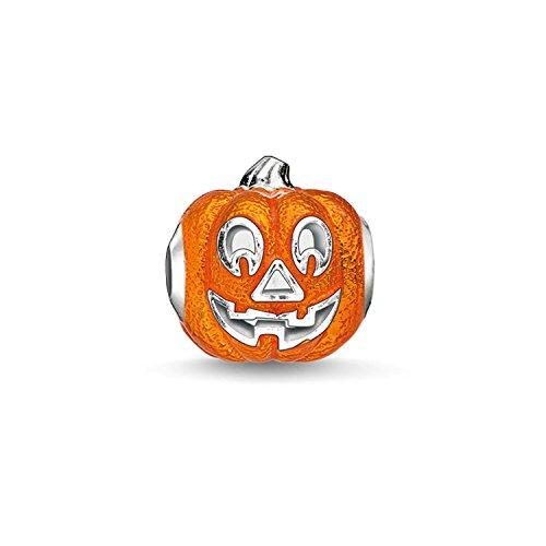 Thomas sabo – Thomas Locking Halloween Bead Silber Orange emailliert K0184 – 007-8