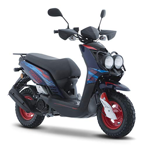 Motocicleta Italika de Motoneta- Modelo WS 150 Sport Azul Naranja