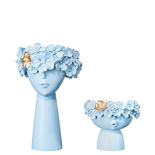 XHCP Adornos de Escritorio, Maceta de cerámica, Maceta, decoración Moderna para el hogar, florero de arreglo de Flores Artificiales, Sala de Estar, exhibición de Plantas, jarrón de Cabe