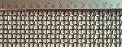 Edelstahl Drahtgewebe mit 3 mm Maschenweite, 1 mm Drahtstärke. 1m x 50cm